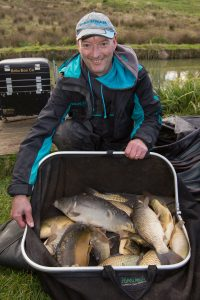 Nigel Vigus, Frampton Cotterill AC, with 42lb 12oz from the Matc